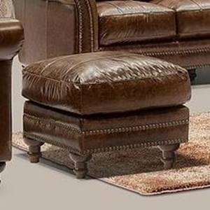 Leather Italia USA Georgetowne - Butler Leather Ottoman
