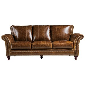 Leather Italia USA Georgetowne - Butler Leather Sofa
