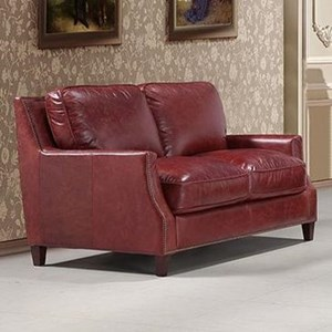 Leather Italia USA Georgetowne - Oakridge Leather Loveseat
