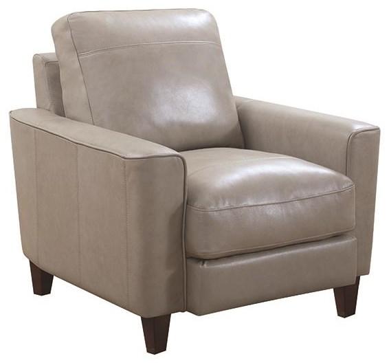 Leather Italia Usa Georgetowne Oakridge Leather Chair