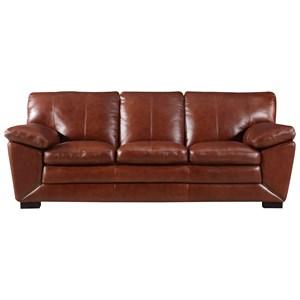 Leather Italia USA Georgetowne - Maser Leather Sofa