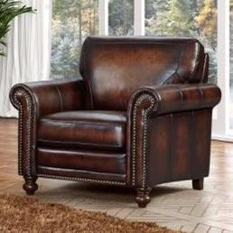 Leather Italia Usa Hampton Leather Push Back Recliner