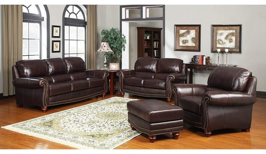 Picture of: Leather Italia Usa James S9922 032952 022952 012952 Tobacco Sofa Loveseat And Chair Set Sam Levitz Furniture Stationary Living Room Groups
