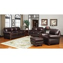 Leather Italia USA James Stationary Living Room Group - Item Number: S9922 Living Room Group 1