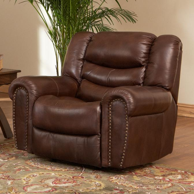 Leather Italia USA Kyle  Power Recliner with Rolled Arms - Item Number: EM9853-01