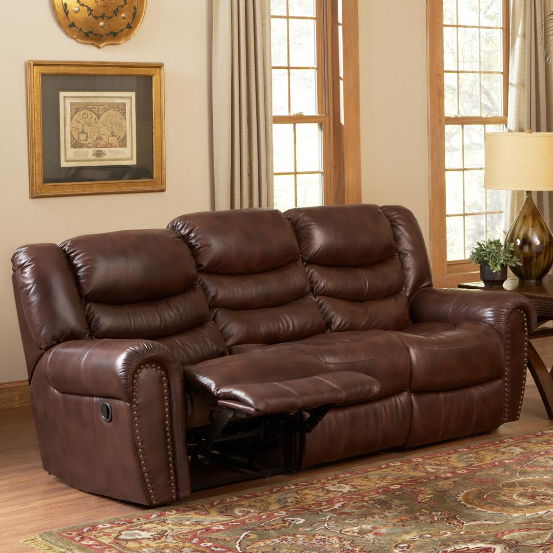 Leather Italia USA Kyle Power Reclining Sofa   Item Number: EM9853 03