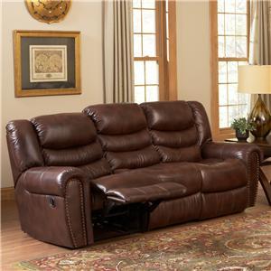 Leather Italia USA Kyle  Reclining Sofa