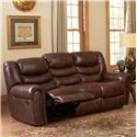 Leather Italia USA Kyle  Reclining Sofa with Rolled Arms - Sofa Shown May Not Represent Exact Features Indicated