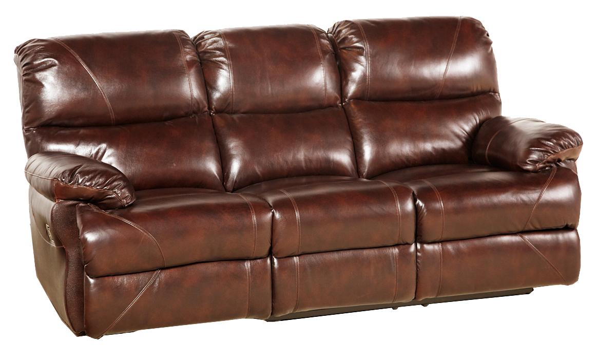 Leather Italia USA Martin POWER RECL SOFA... STOCK ONLY!!! - Item Number: EM204-03
