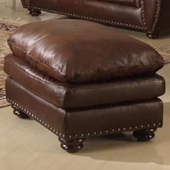 Leather Italia USA Mauro Ottoman