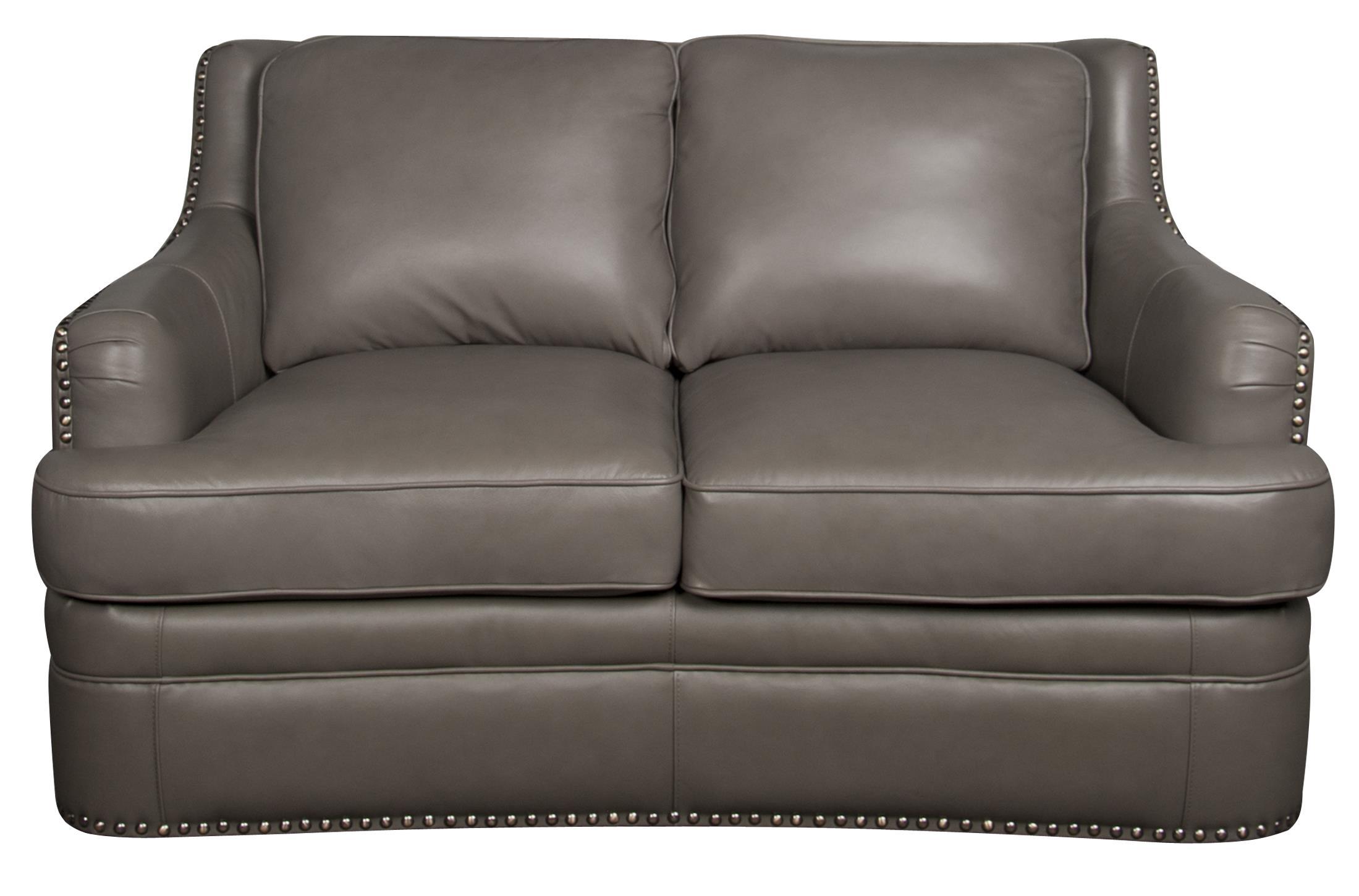 Morris Home Furnishings Maya Maya 100% Leather Loveseat - Item Number: 316165523