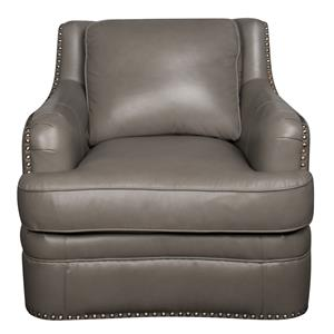 Morris Home Furnishings Maya Maya 100% Leather Chair