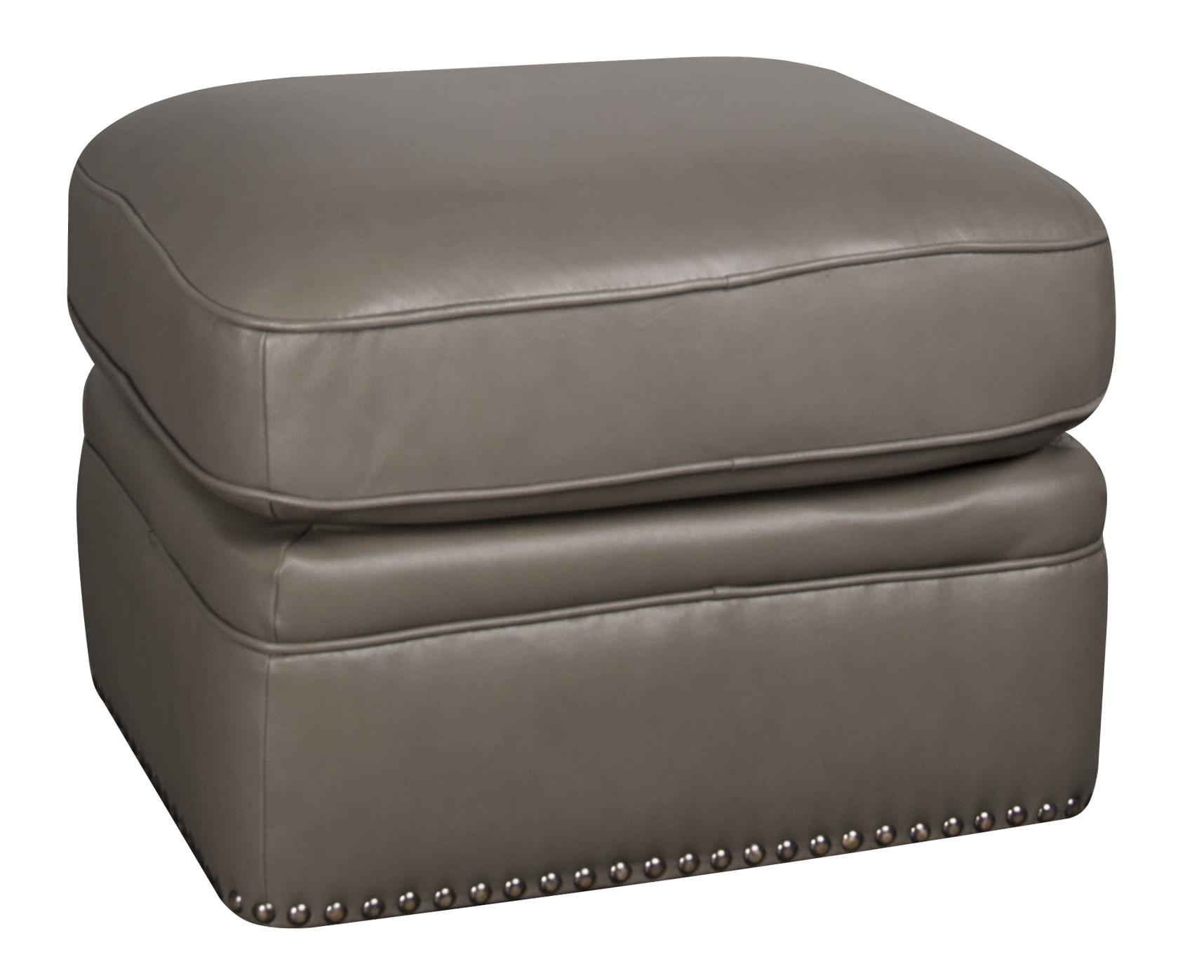 Morris Home Furnishings Maya Maya 100% Leather Ottoman - Item Number: 845350505