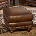 Leather Italia USA Parker Leather Ottoman - 6649-00