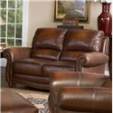 Leather Italia USA Parker Leather Loveseat - 6649-02