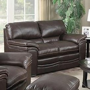 Leather Italia USA Presidential - Mitchell Leather Loveseat