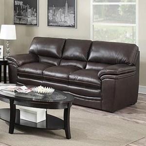 Leather Italia USA Presidential - Mitchell Leather Sofa