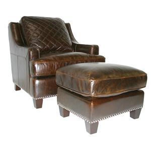Leather Italia USA Provo Chair & Ottoman Set