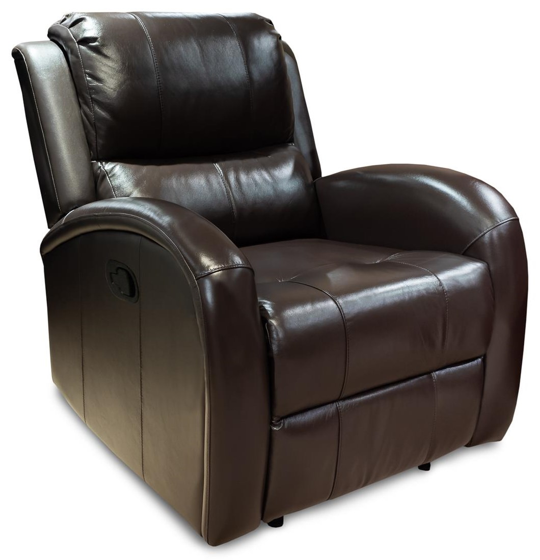 Rick Contemporary Leather Recliner at Rotmans