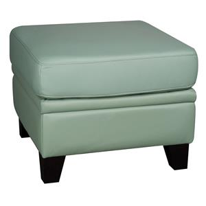 Morris Home Furnishings Rufus Rufus 100% Leather Ottoman