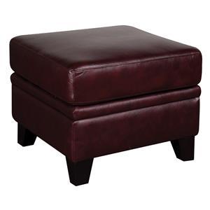 Morris Home Furnishings Rufus Rufus 100% Leather Ottoman