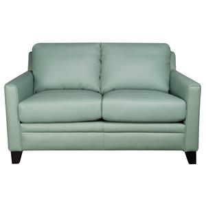 Morris Home Furnishings Rufus Rufus 100% Leather Loveseat