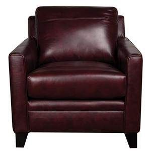 Morris Home Furnishings Rufus Rufus 100% Leather Chair