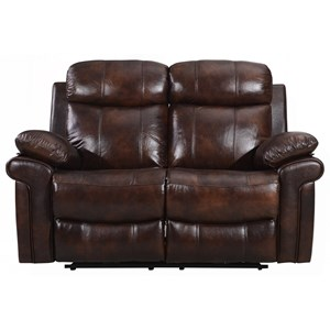 Leather Italia USA Joplin Power Reclining Leather Loveseat