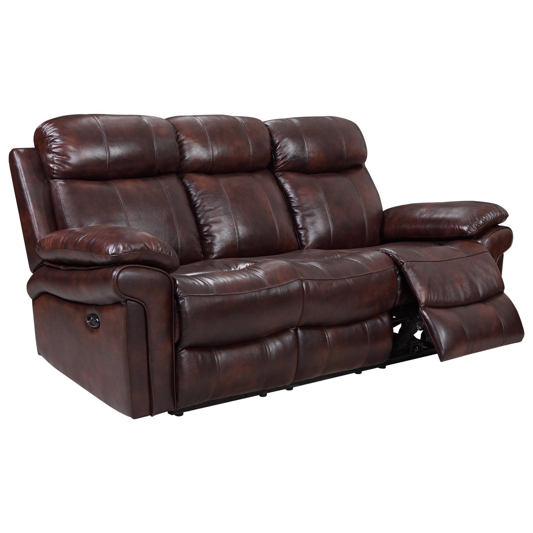 Janis Power Reclining Leather Sofa Rotmans Reclining Sofas