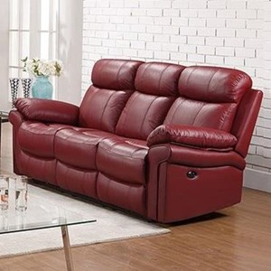 Leather Italia USA Shae   Joplin Power Reclining Leather Sofa