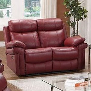 Leather Italia USA Shae - Joplin Power Reclining Leather Loveseat