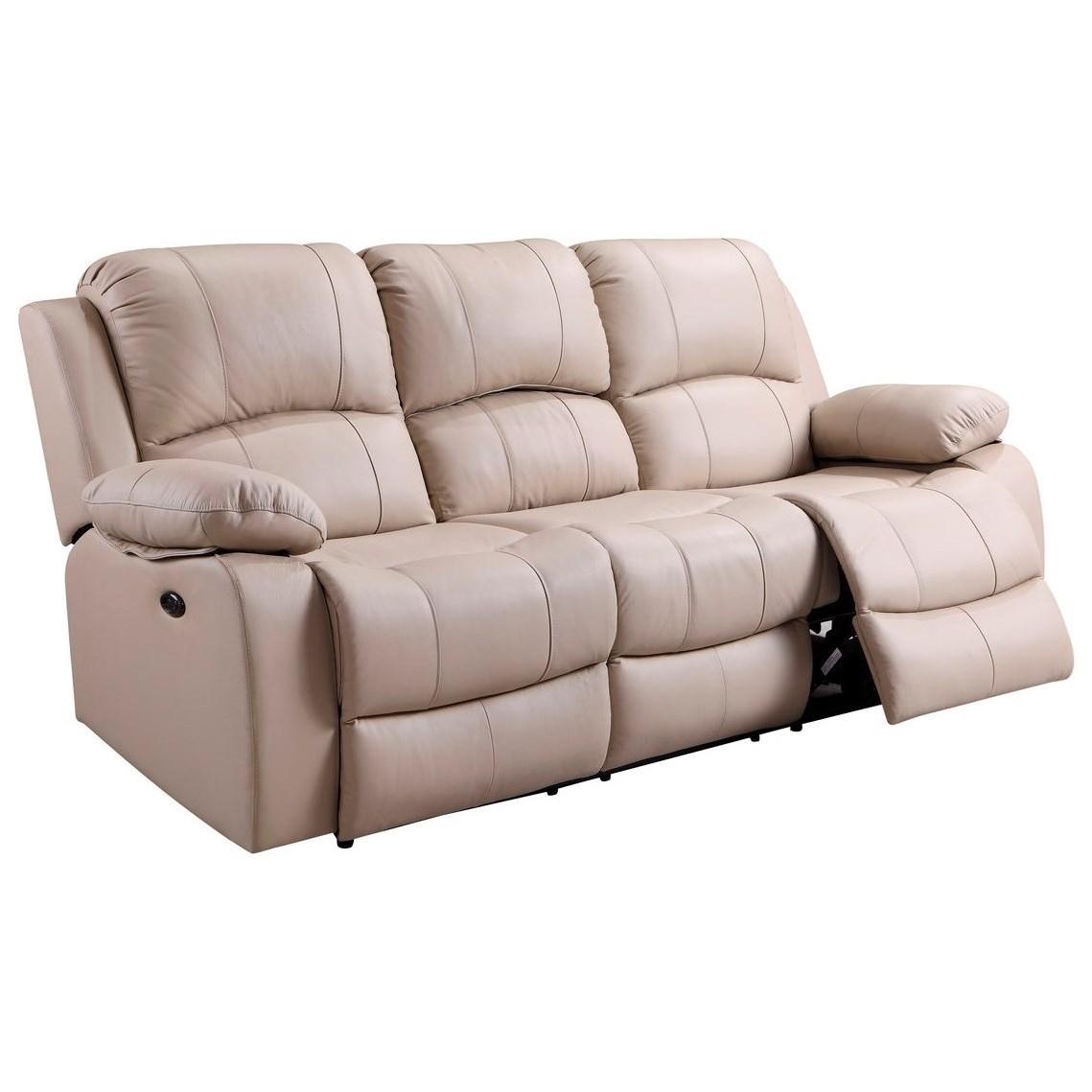 Leather Italia Usa Winnfield Leather Power Reclining Sofa