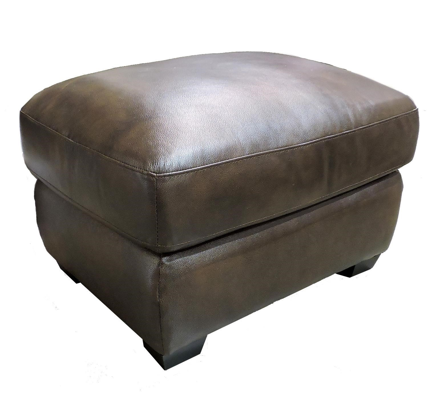 Leather Italia USA Woodburn Contemporary Ottoman - Item Number: 2218-00 2951 Brown