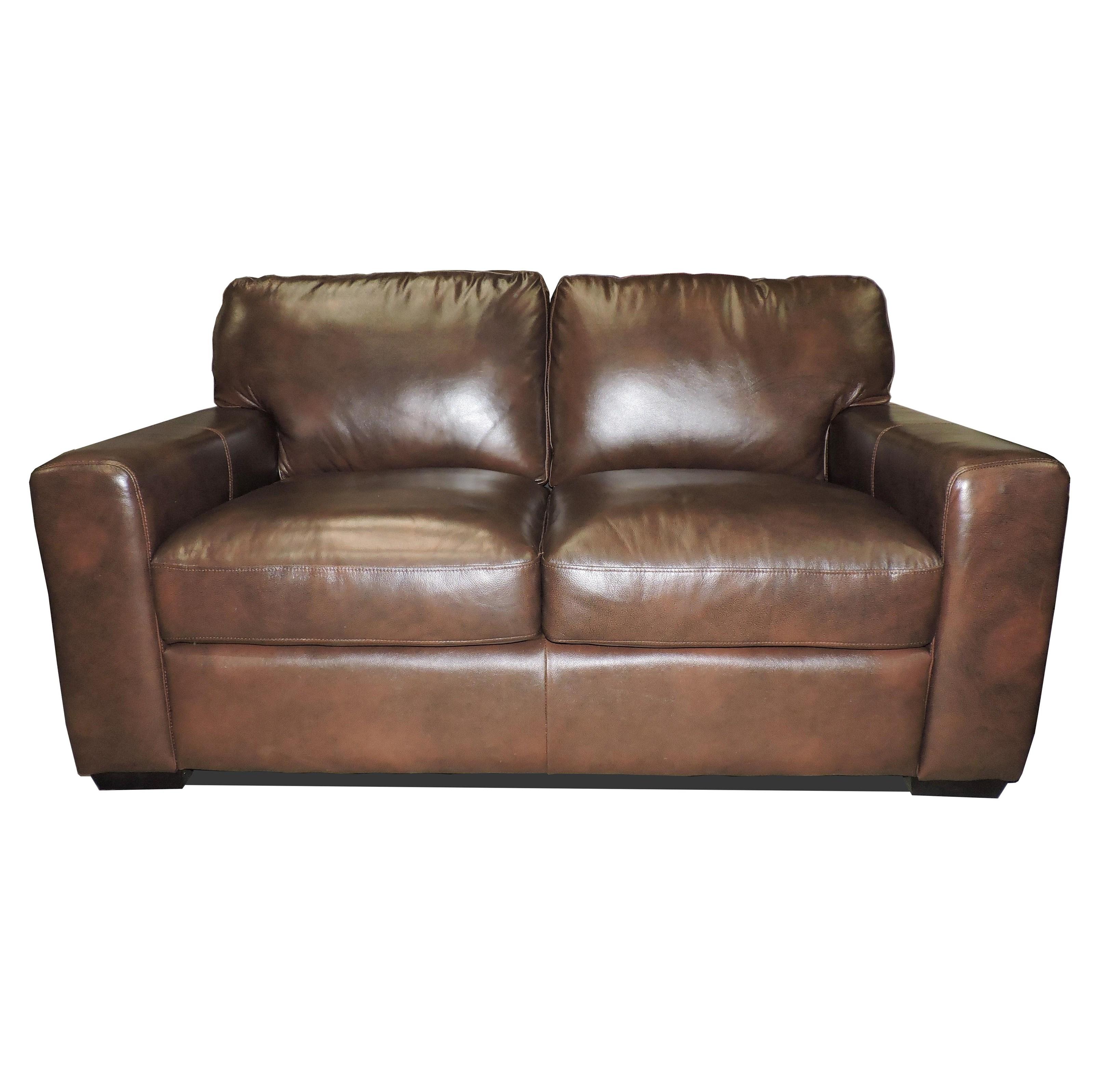 Leather Italia USA Woodburn Love Seat - Item Number: 2218-02