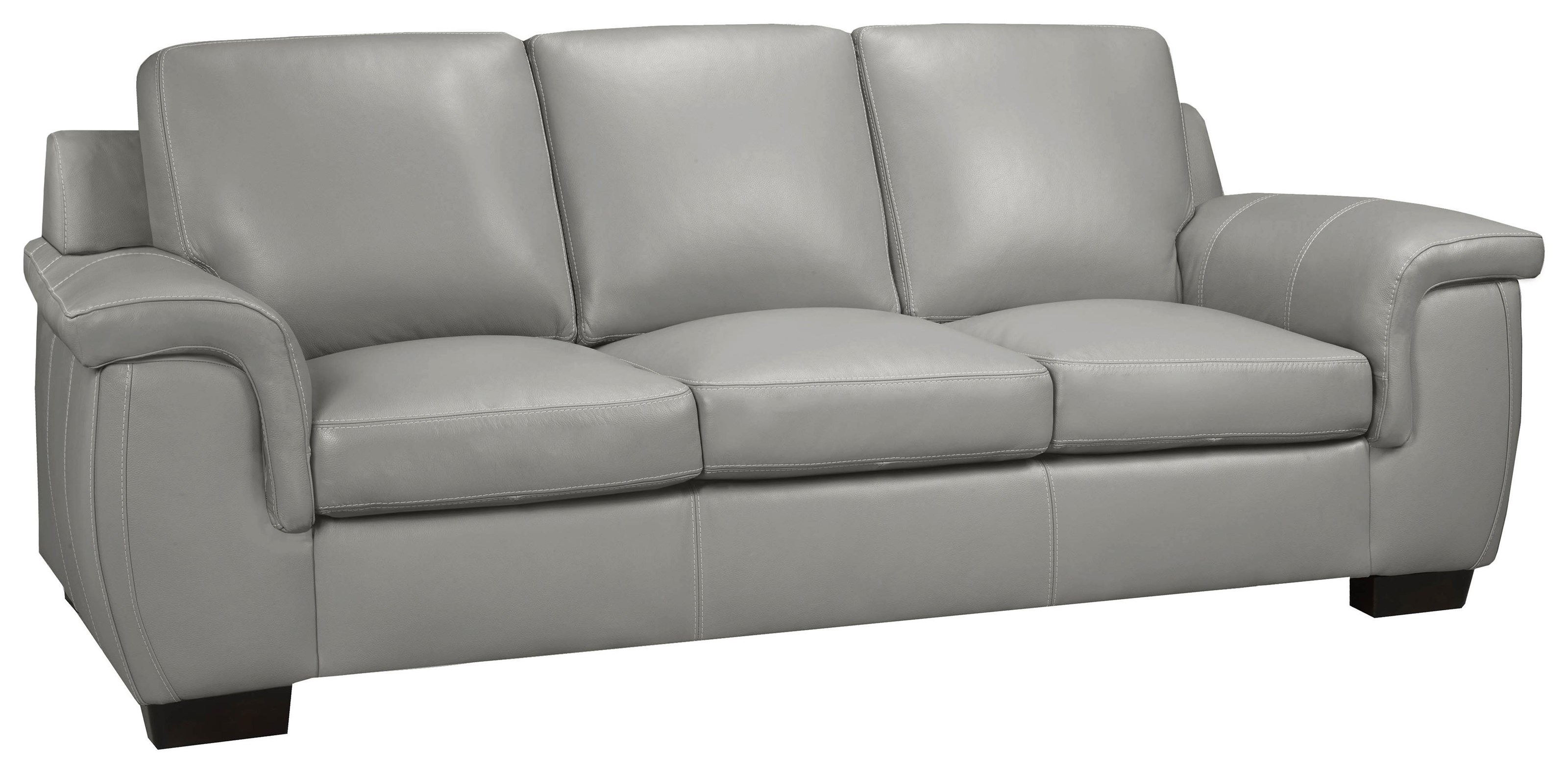 Brisbane Brisbane Lthr Sofa /cloud Gray by Leather Living at Stoney Creek Furniture