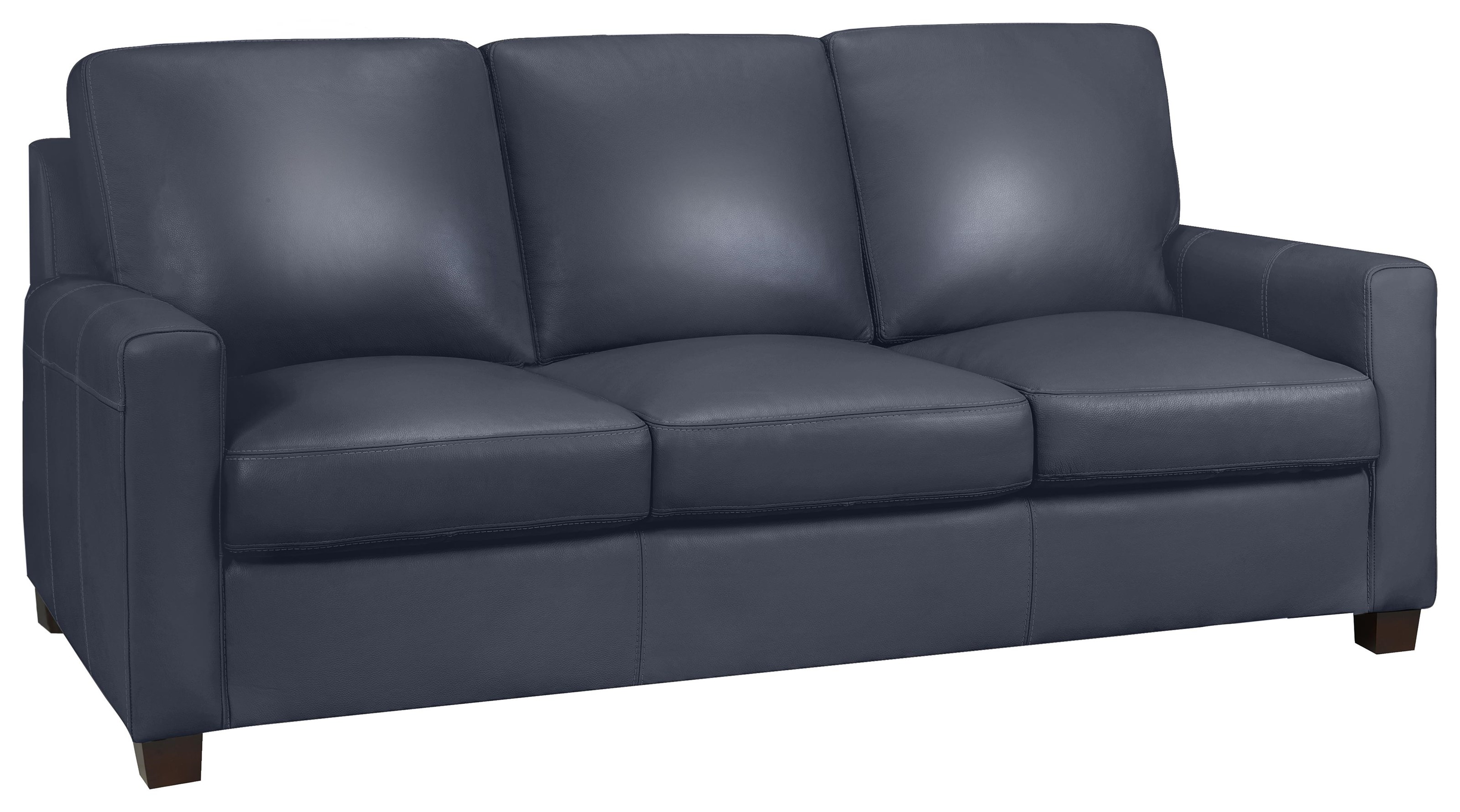 Milan Sofa - Lthr - A/l Navy by Leather Living at Stoney Creek Furniture