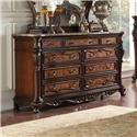 Lee Furniture Freemont Marble Top Dresser - Item Number: BD011-06