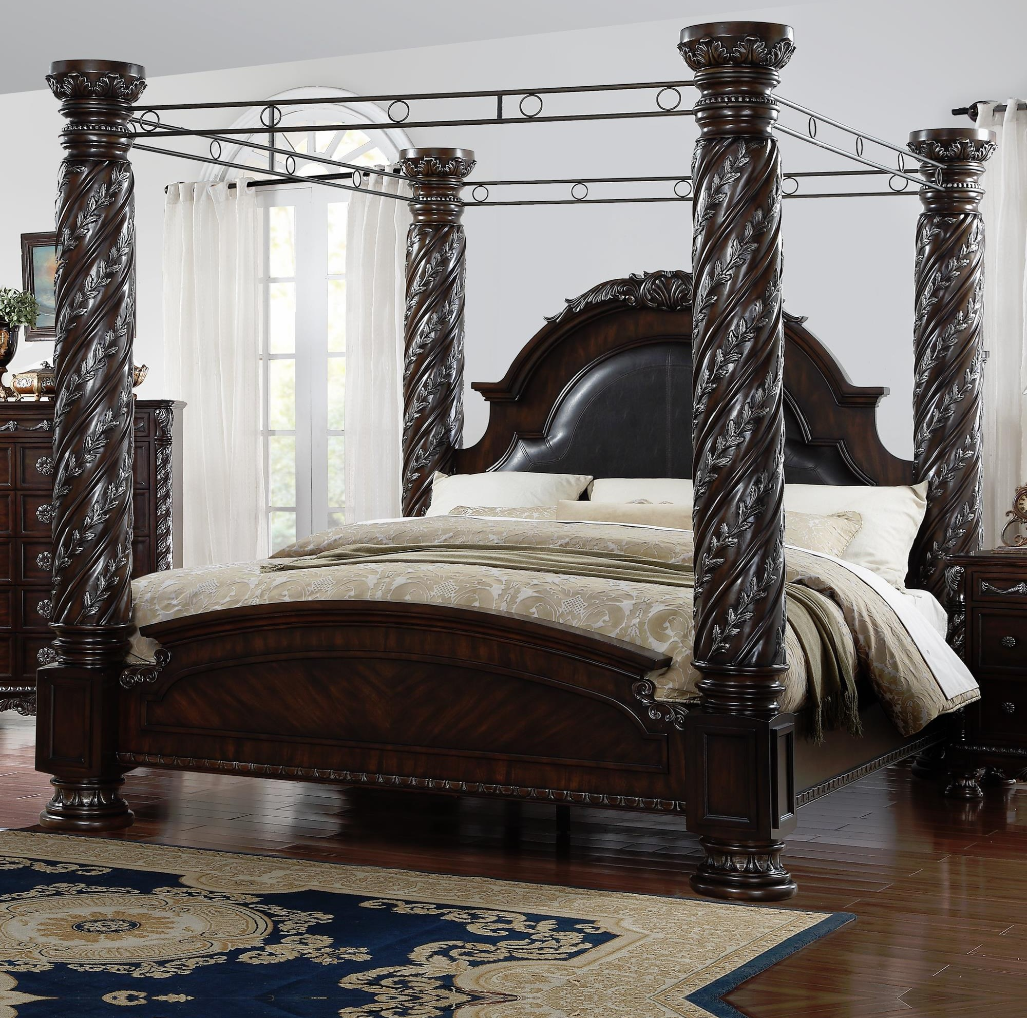 Lee Furniture La Rochelle King Canopy Bed Royal Furniture Canopy