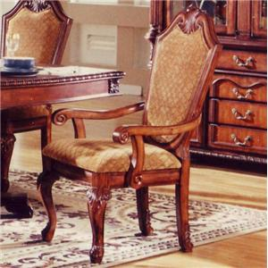 TBL005 Traditional Warm Walnut Uphostered Arm Chair by Lee Furniture