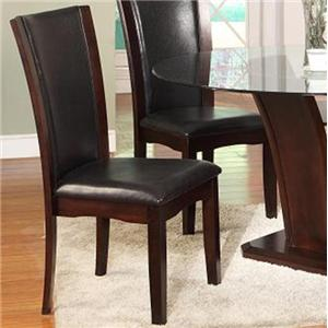 TBL355 Contemporary Dining Side Chair with Faux Leather Back and Seat by Lee Furniture