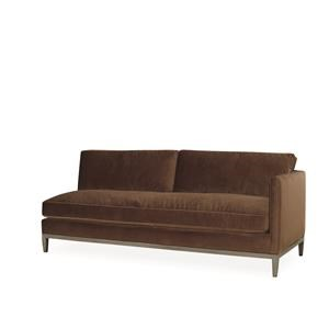 Lee Industries Lee Furniture One Arm Sofa - Austin Truffle
