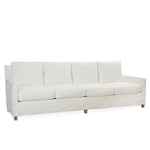 lee industries lee furniture slipcovered extra long sofa boomer white - Lee Industries Sofa