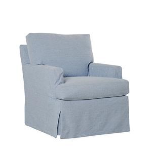 Lee Industries Lee Furniture Slipcovered Chair   Cagney Bistro Blue