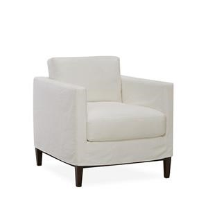 Lee Industries Lee Furniture Slipcovered Chair   Boomer White