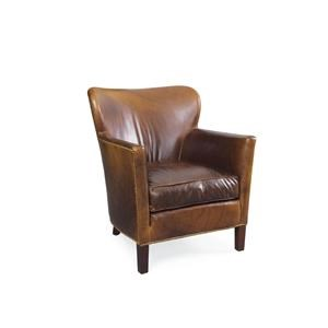 Lee Industries Lee Furniture Leather Chair   Aristocrat Chocolate