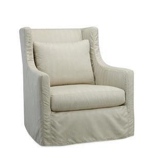 Lee Industries Lee Furniture Lotus  Slipcovered Swivel Chair