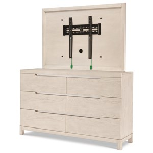 Dresser and TV Frame Combination