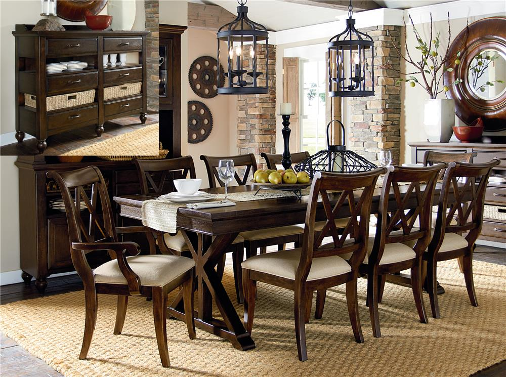 Legacy Classic Thatcher 8pc Dining Room Group Wayside Furniture Casual Dining Room Group