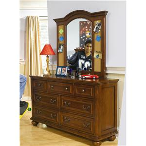 Legacy Classic Kids American Spirit 7 Drawer Dresser and Mirror