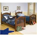Legacy Classic Kids American Spirit Twin-Over-Twin Bunk Bed - Note that the item may differ slightly from this picture due to recent changes in bunk bed safety standards to eliminate vertical protrusions on the upper bunk.  Please contact us for details.